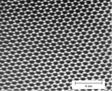 Micrograph demonstrating translational symmetry in cordite