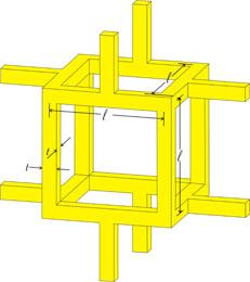 Diagram of cubic foam structure