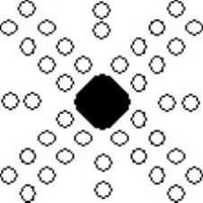 Schematic showing alignment of etch pits around deformed region