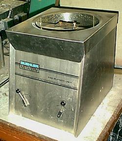 Photograph of a Jominy test machine