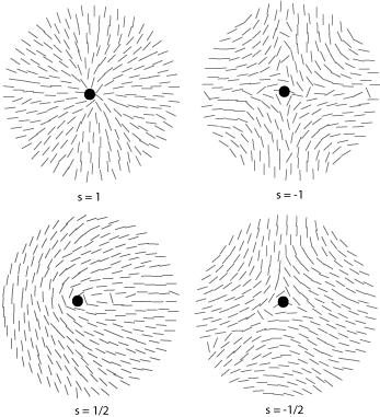 Diagram of disinclinations